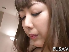 babe blowjob hardcore pussy asian closeup japanese oil rubbing solo