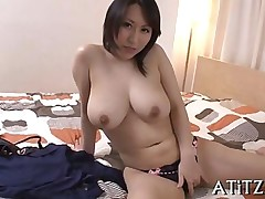 big tits sucking japanese wanking wife
