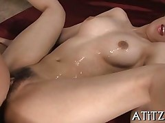 fucking sucking asian busty trimmed