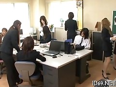 sucking asian office oral