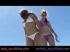 dancing beach andrea sky chinese public small tits outside bikini