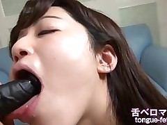 aki perspired sex toy licking swallowing yearn tongue infatuation facefucking