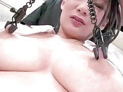 major teats obtain milked clamped asian boobs japanese milfs nipples
