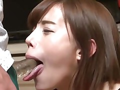 kurumi sextoy licking swallowing covert tongue kink facefucking dildo suck