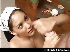 mycuteasian hunny bunny 1st part2 asian brunette cumshot hairy handjob