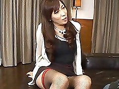 moist japanese woman squirts uterus juice rides jock footjob group