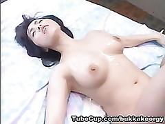 japanesebukkakeorgy: love zamen risa asian cumshot facial komori
