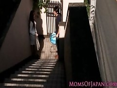 japanese mamma cheats acquires face penetrated milf mature titjob gagging