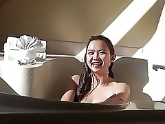 appealing asian: tub tease machine eastern