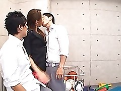 manami nishi obtains banged dualistic strangers cock juice face blowjob