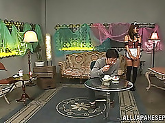 satou haruka arousing oriental milf obtains wet crack licked blowjob