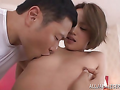 magnificent eastern hotty karen aoki acquires tiny breasts pinched blowjob