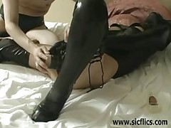 forceful prostitute fist bonked double brutes dildo pussy huge fuck
