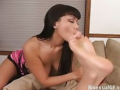 double oriental pretties playing amateur asian brunette fetish lesbian