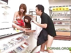 time stop market asian group sex japanese public reality