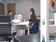office bimbo maki hojo plays fanny cum licking sucking cock