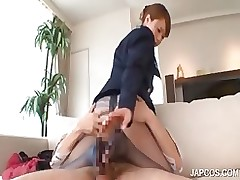 extreme japanese foot job mattress asian brunette fetish hardcore uniform