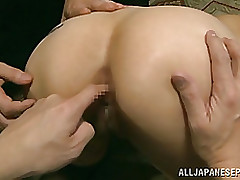moist japanese milf yuki tohma enjoys group activity anal fisting